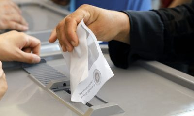 A man casting his vote in election